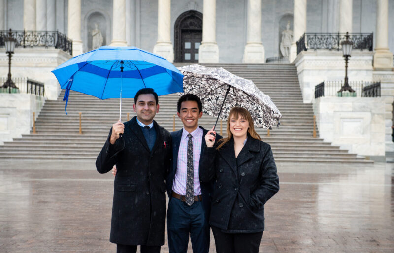 Fellows in front of Capitol Building