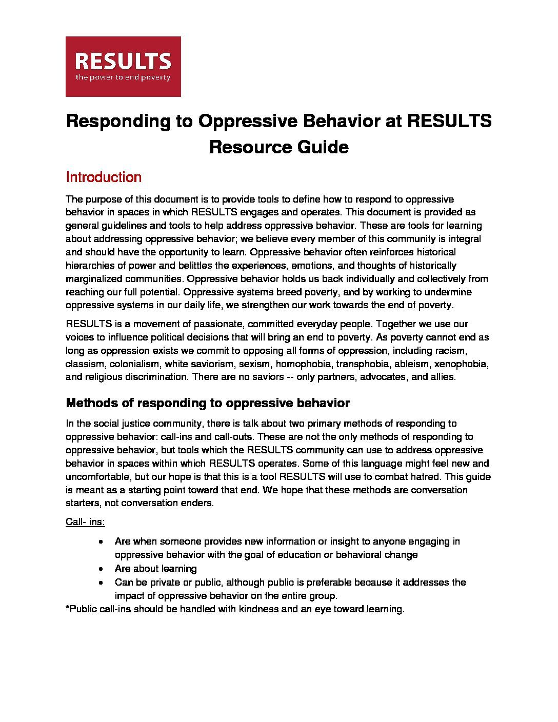 "Anti-Oppression ""Call-in Call-out"" Guide"