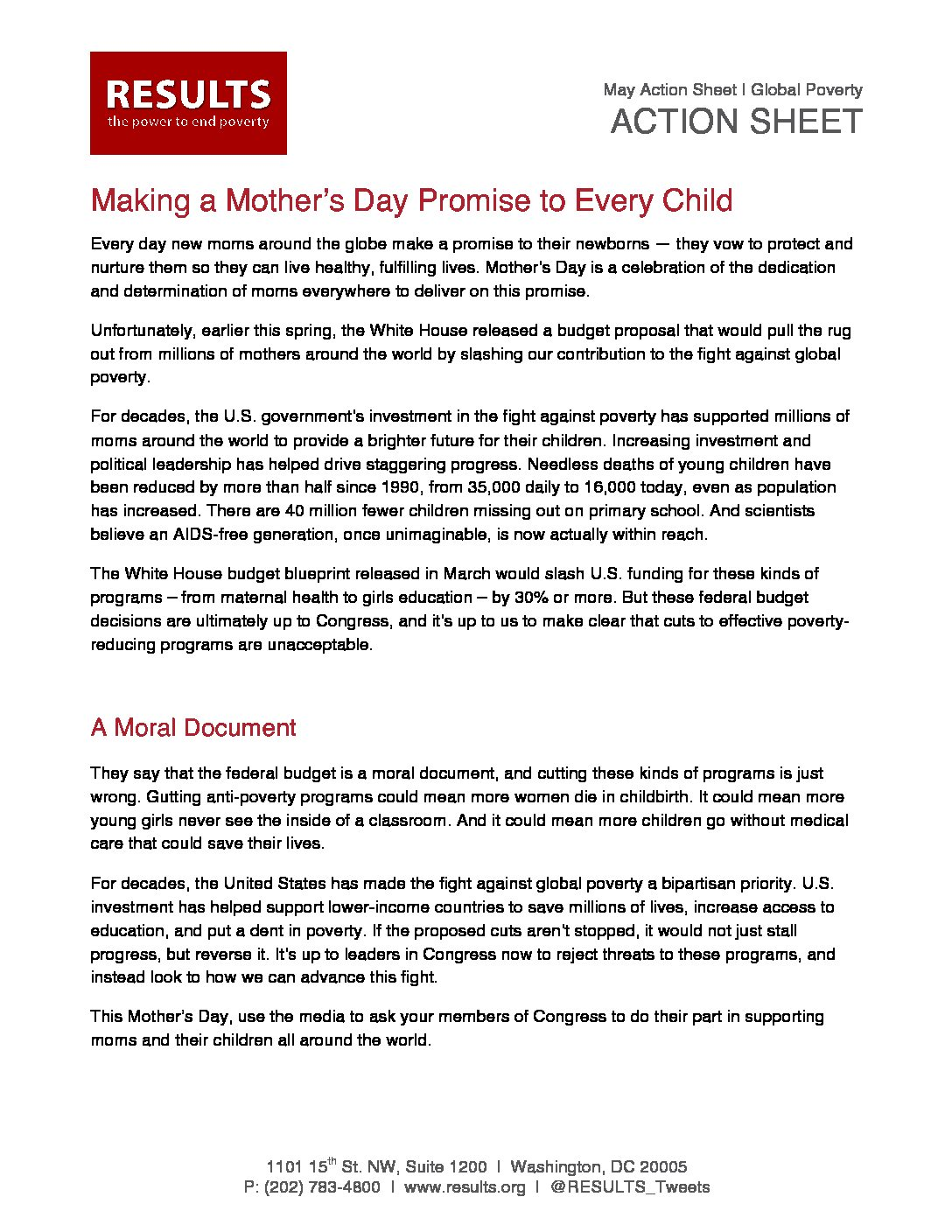 May Action Sheet Mothers Day LTE