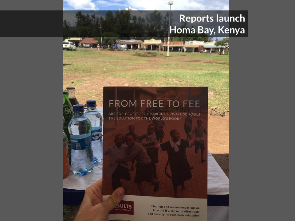 "RESULTS Launches New Report ""From Free to Fee"" in Kenya"